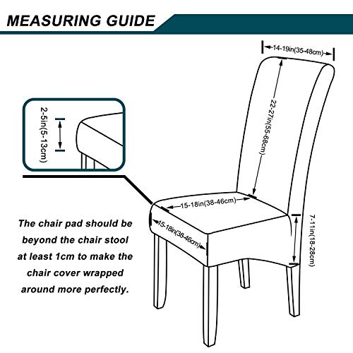 smiry Stretch Chair Covers for Dining Room 1 PC Velvet Large Dining Chair Slipcovers
