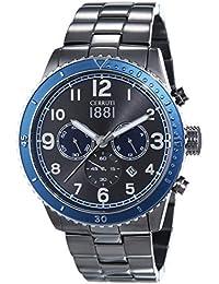 Cerruti 1881 VOLTERRA CRA104SUBL61MU - Reloj para hombres, correa de acero inoxidable chapado color gris