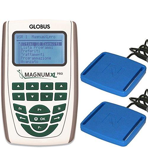 Magnum xl -pro con 2 solenoidi rigidi globus magnetoterapia 2 canali - 500 gauss di picco totale