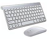 Wireless Tastatur Maus Set 2.4Hz Ultra Dünne Kabellos Tastatur (QWERTZ, Deutsches Layout) und Maus für Laptop PC Tablet und Smart TV