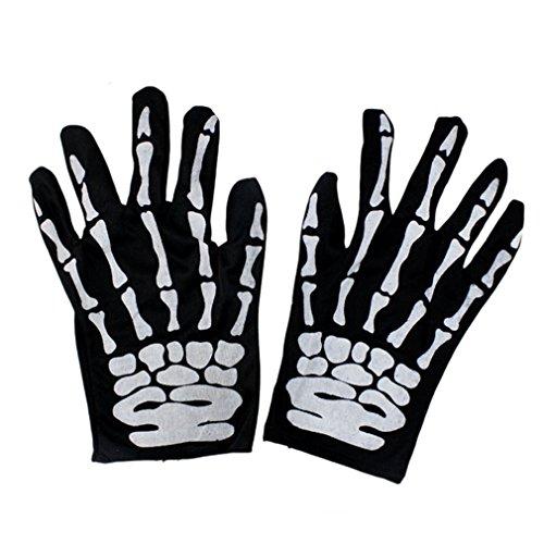 Imagen de aiyue® traje disfraz 1 par de guantes esqueleto cosplay halloween navidad para adulto mujer hombre