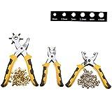 Generic-3Pcs/Set-Punch-Plier-Duty-Leather-Hole-Punch-Hand-Pliers-With-200Pcs-Grommet