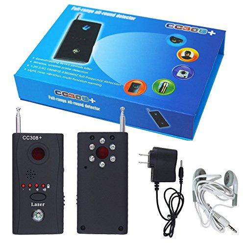 VINGO CC308+ Wanzen Finder GSM GPS Detektor RF Tracker für Überwachung kabellosen Geräten Aufspürgerät Kamera spy cam Funk Signal Laser Lens (Gsm-cam)