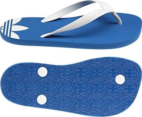 adidas originals Flip Flops - adidas originals color: Blue / White GR: 3 UK