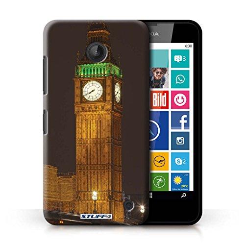 Kobalt® Imprimé Etui / Coque pour Nokia Lumia 630 / Big Ben conception / Série Londres Angleterre Big Ben