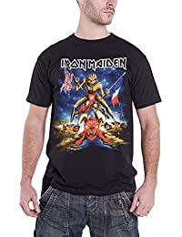 Iron Maiden T Shirt Book of Souls Tour Download 2016 Official Mens Black