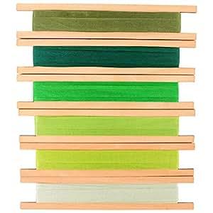 LaRibbons 10mm Wide Green Series 100% Nastri Di Seta Puro - 6 Colori X 5M