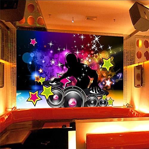 pier 3D Musik Dance Sound Bar Ktv Disco Diskothek Hotel Cafe Wandverkleidung Wandbilder 3D Wall Paper Home Decor 3D Tapeten Fresko Wandmalerei Mural Wallpaper 200cmX150cm ()