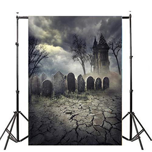 VEMOW Heißer Halloween Backdrops Kürbis Vinyl 3x5FT