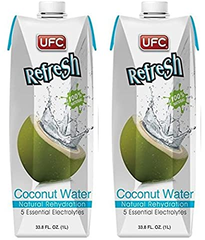 (2 Pack) - UFC - Refresh Coconut Water | 1000ml | 2 PACK BUNDLE