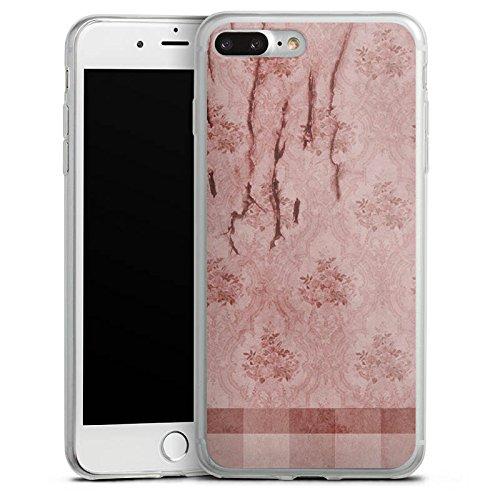 Apple iPhone 8 Slim Case Silikon Hülle Schutzhülle Wand Muster Vintage Silikon Slim Case transparent