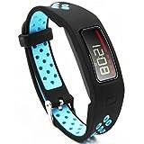 Woodln Fitness Armbänder Bracelet Replacement Ersatzband für Garmin Vivofit (BLACK BLUE)