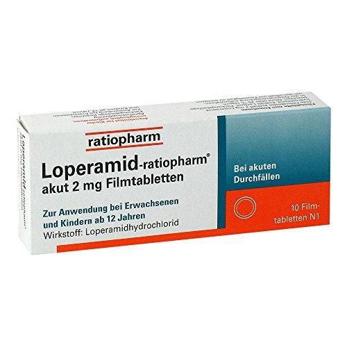 Loperamid-ratiopharm akut 2mg 10 stk