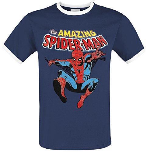 Spider-Man Amazing Spider-Man T-Shirt blau/weiß Blau/Weiß