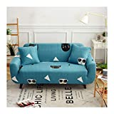 WUFANGFF Slipcover Hund Tier Muster Stretch Sofa Chemiefaser Stoff Slipcover Couch Covers Sofa Furniture Protector, 2Seat