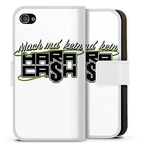 Apple iPhone X Silikon Hülle Case Schutzhülle Elotrix Fanartikel Merchandise Hara Cash Sideflip Tasche weiß