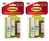 Command Picture Hanging Strips Value Pack, 4 Pairs Medium, 8 Pairs Large 2 Pack