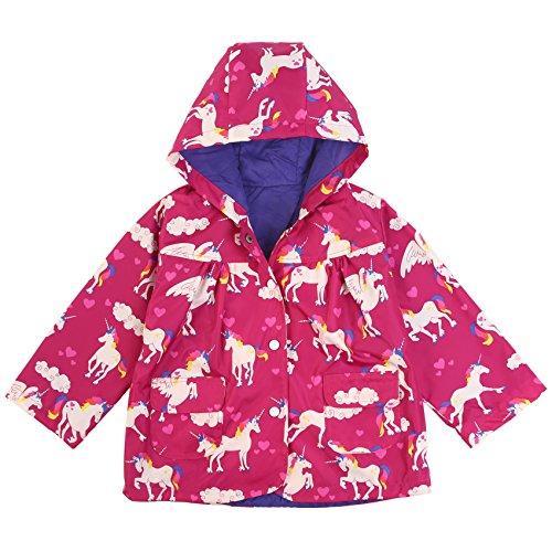 ephex - Abrigo impermeable - para niña rosa rojo 120 cm