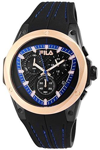 FILA Herren Analog Quarz Uhr mit Silikon Armband 38-821-002
