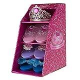 Girls Set of 3 Princess Slipper Shoes & Tiara Pink [Prime]