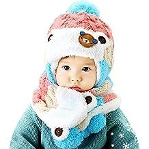 d20d8f3f93b8 AnKoee Mignon Enfants d hiver Bébé Chapeaux,Bonnet pour Bébé Fille Garçon