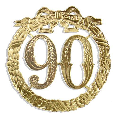 iläumszahl 90, Ø 13 cm, Gold ()