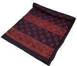 Guru-Shop Blockdruck Tagesdecke, Bett & Sofaüberwurf, Handgearbeiteter Wandbehang, Wandtuch - Rot/violett Spirale, Baumwolle, Größe: Double 225x275 cm, Tagesdecken mit Blockdruck