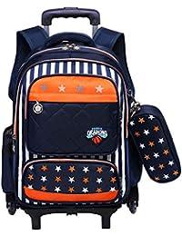 Mochila con ruedas - Durable Rolling Daypack Bolso de escuela de gran capacidad Elegante Daypack para
