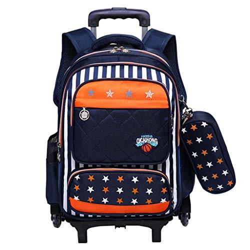 Mochila con Ruedas - Durable Rolling Daypack Bolso de Escuela de Gran Capacidad Elegante...