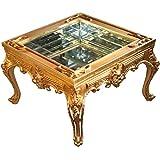 Prunkvoller Casa Padrino Barock Couchtisch Gold Verspiegelt Mit Aufklappbaren Glasdeckel 67 X Cm Unikat