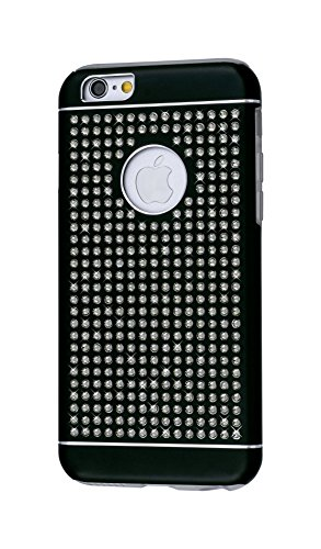 iShield® 6 Light Luxury Cases with Crystals from Swarovski® for iPhone 6/6S - Case Type: iShield® 6 Light Case Riches (Black Satin Matte) - Swarovski Crystal Iphone Case