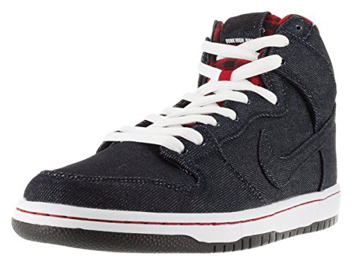 Nike Dunk High Premium Sb, Chaussures de Skate Homme Multicolore - Negro / Blanco (Dark Obsidian / Drk Obsdn-White)