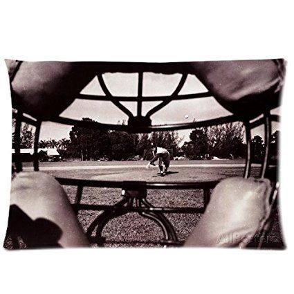 Fedso Baseball Catcher Maske View von Barney Stei Individuelle Kissenbezüge, Weiche Baumwolle Kissenbezug 50,8x 76,2cm Zwei ()