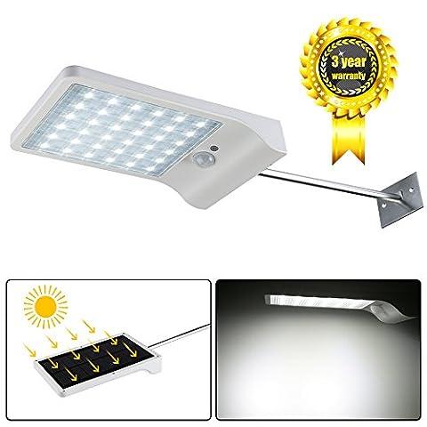 LEDMO® 36 Leds Plus de lampe solaire led brillante, IP65