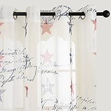 Top Finel cortina de paneles para sala de estar,.dormitorio con la pintura de estrella de suerte de estados unidos,140 cm anchura por 160 cm longitud,con ojales,solo panel