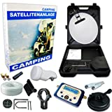 HB-DIGITAL HD Camping Sat Anlage im Koffer 40cm Schüssel + Digital SATFINDER + Opticum LNB 0,1 10m Kabel für HDTV UHD 3D 4K geeignet