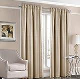 Designers' Select Satin Stripe Vorhang für Gardinenstange, 213,4 cm, Taupe