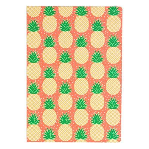 Ananas A5 Pfirsich grünen notiz Zeitschrift tropischen Sommer Sass & Belle