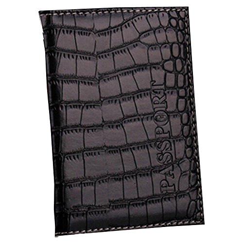 Cocodrilo en relieve PU de cuero del pasaporte del protector del soste