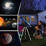 Telmu Portable Telescope - 30X and 48X, with retractable tripod, red dot viewfinder