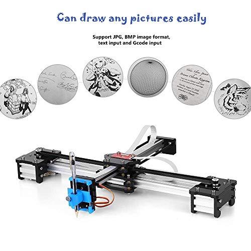 Fishlor Graviermaschine, 100-240VA 2 Achsen DIY CNC XY Plotter Stift Zeichenmaschine Roboter, elektrische Graviermaschine(EU)