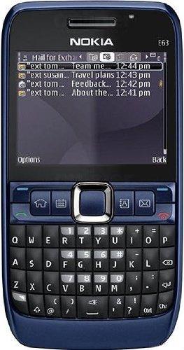 Nokia E63 ultramarine blue (QWERTZ-Tastatur, Ovi, UKW-Stereo-Radio, UMTS, GPRS, Nokia Maps, 2 MP) Smartphone