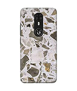 Be Awara Multi Marble Printed Back Case Cover for Gionee A1