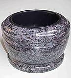 "designgrab ""Exclusiv"" Grabschale Durchmesser 25 cm aus Granit Orion Blue / Coromandel / Bahama Blue Friedhofsschale Grabschmuck Granitschale Pflanzgrabschale Grabmalschale Pflanzschale"