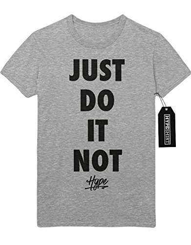 T-Shirt JUST DO IT NOT Hype Lazy Sunday Mood Hipster Teen Spirit Chill Sloth Day F960014 Grau