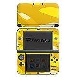 Nintendo New 3DS XL Case Skin Sticker aus Vinyl-Folie Aufkleber Muster Gelb Camouflage