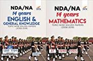NDA/ NA 14 years Mathematics, English & General Knowledge Topic-wise Solved Papers (2006 - 2019) 5th Edi