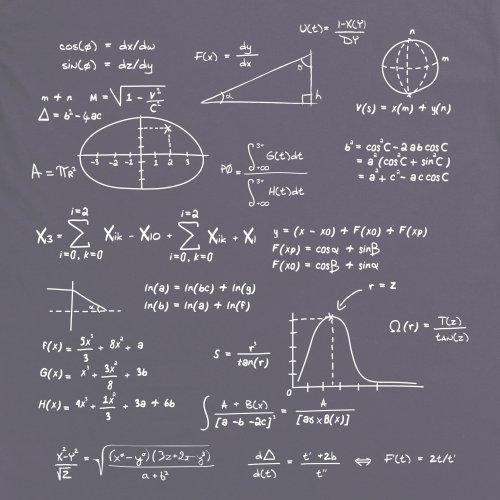 Math T-Shirt, Herren Anthrazit