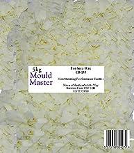 Moldmaster - Bolsa de cera de soja ecológica para velas (5 kg), color blanco
