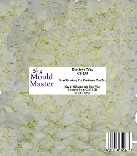 Moldmaster cera di soia naturale, 5 kg, colore bianco